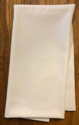 "Vintage Slight 4-Way Stretch White Polyester Gabardine Fabric .80 YDS x 62"" W  for sale  Vacaville"