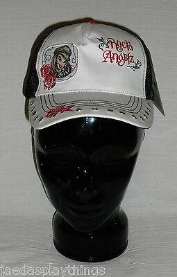 NEW Bratz Rock Angelz Adjustable Black White Hat Baseball Cap FREE US Ship
