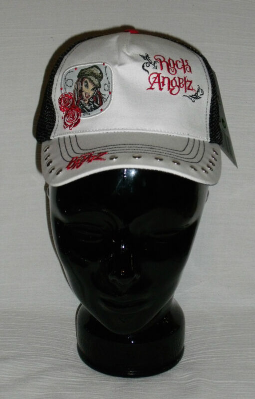 NEW Bratz Rock Angelz Adjustable Black White Hat Baseball Cap FREE US Ship