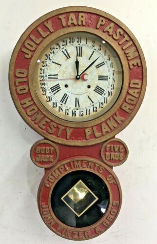 Vintage Heyden Trapani Jolly Tar Pastime Calendar Wall Clock