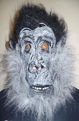 adult one size NEW NWT GORILLA HAIRY HALLOWEEN MASK LOOKS REAL! PARTY WEAR NICE ](Halloween Party Looks)