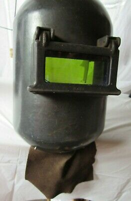 Vintage Welding Helmet Fibremetal Radnor Flip Lens Leather Steampunk Industrial