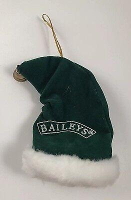 Green Velveteen Santa's Cap Ornament ~ Baileys ~ W/Real Metal Bell