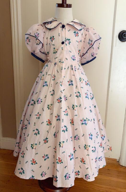 Daisy Kingdom girls flower pink vintage dress size 6x