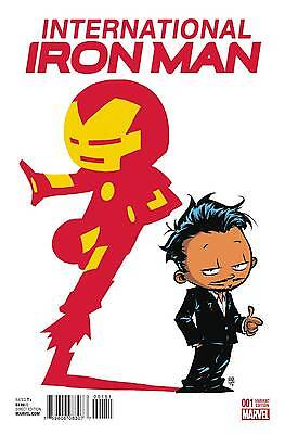 International Iron Man #1 (Skottie Young Baby Variant Cover) 2016 Series Marvel - Iron Man Baby