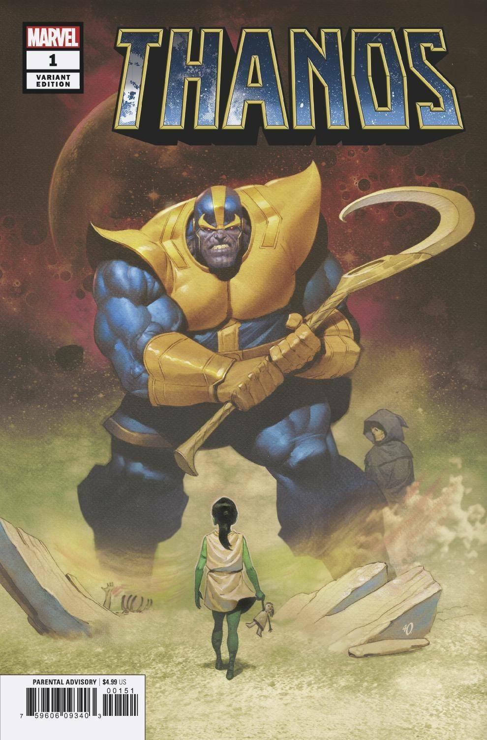 Thanos 1 Olivetti Variant NM 9.4 - $0.01