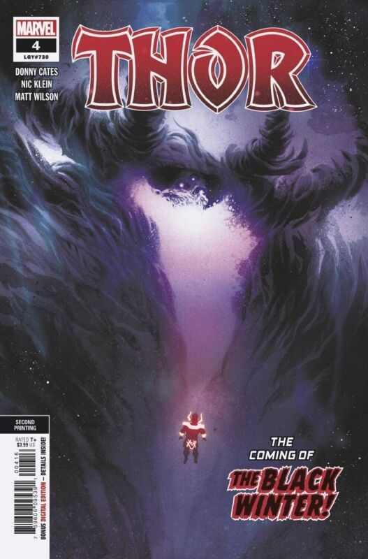 THOR #4 2ND PRINT VARIANT 1st Black Winter & 1st Cover Appearance 8/5/20 CATES