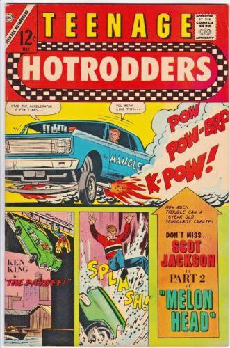 TEENAGE HOTRODDERS # 23 CHARLTON - JACK KELLER - RACING CARS