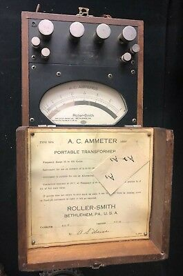 Vintage Roller-smith Type Npa Serial 365141 A.c. Ammeter With Case