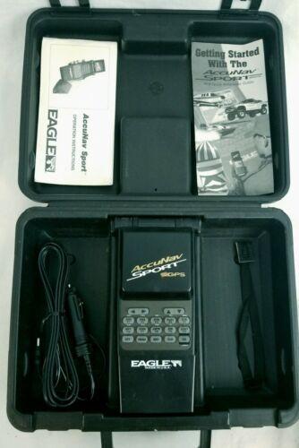 Vintage Eagle AccuNav Sport Portable GPS Bundle With Manuals, Hard Storage Case - $22.64