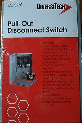 30 Amp Electrical Pull-out Fusible Disconnect Box Hvac With 2 30 Amp Fuses