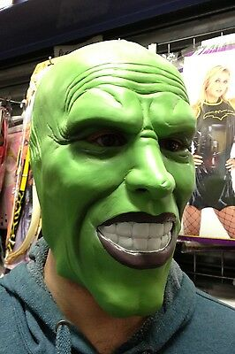'The Mask' Dark Green latex mask Jim Carrey Costume Fancy Dress Halloween film](The Mask Halloween Costume Jim Carrey)