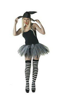 HALLOWEEN BLACK AND WHITE OVER THE KNEE SOCKS PARTY FANCY DRESS COSTUME