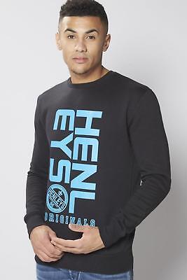 Henleys Crew Neck Sweater Black Medium TD083 LL 13
