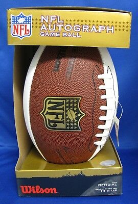 WILSON NFL AUTOGRAPH GAME BALL 3-WHITE PANELS 2 PANELS FOR AUTOS (NEW IN BOX)
