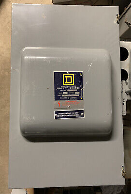 82261f Square D 30 Amp 600v 2 Pole Fusible Nema 1 Indoor Manual Transfer Switch