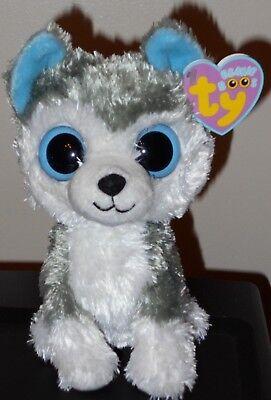 Ty Beanie Boos   Slush The 6  Husky Dog  Snow Wonder     2009 Gen Tags  Mwmts