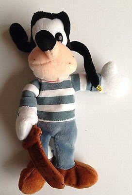 "Disney 9"" Goofy Bean Bag Plush Goofy Dressed as Pirate"
