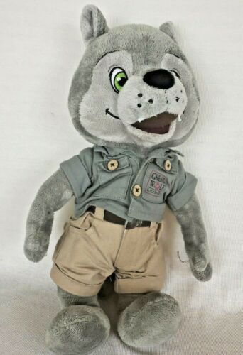 "Fiesta Great Wolf Lodge WILEY 16"" Mascot Plush Doll Ranger Outfit Stuffed Animal"