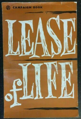LEASE OF LIFE 1954 Original Large Film Movie Campaign Press Book