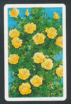 yellow roses flowers playing card single swap jack of spades - 1 card