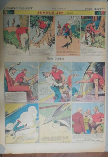 Flash Gordon Sunday by Alex Raymond from 8/24/1941 Large Full Page Size !