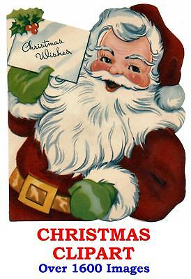 Christmas Clipart CD 1600+ Xmas Images Designs Santa Snowmen Victorian Nativity Christmas Nativity Clipart