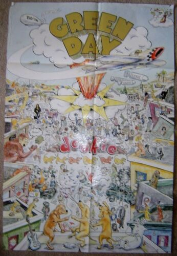 "GREEN DAY -RARE ORIGINAL 1994 ""DOOKIE"" Promo Poster 23x34 inches"