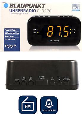 Radiowecker Blaupunkt CLR120  Große Uhrenradio zwei Weckzeiten Großes Display Großes Display