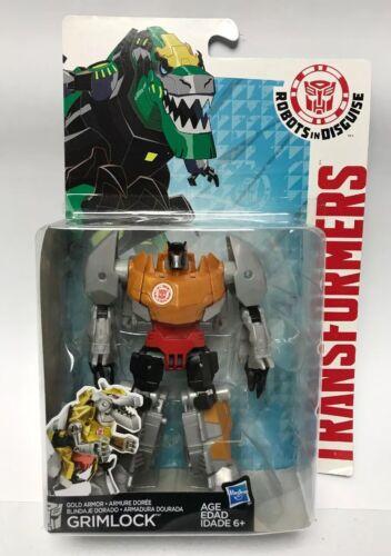 Transformers Robots in Disguise Warrior Class Gold Armor Grimlock Figure
