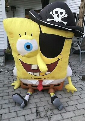 Gemmy Halloween Airblown Inflatable Nickleodeo Spongebob Pirate 5' Tall,Light-up