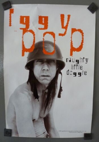 Iggy Pop Naughty Little Doggie 1996 Rare Promo 12x18 Poster