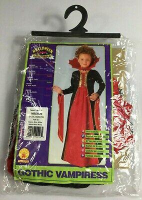 Halloween Concepts Child Gothic Vampiress Halloween Costume Size M 8-10 NEW BJ