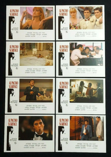 VINTAGE MOVIE LOBBY CARD SET ORIGINAL AL PACINO SCARFACE GANGSTER 1983
