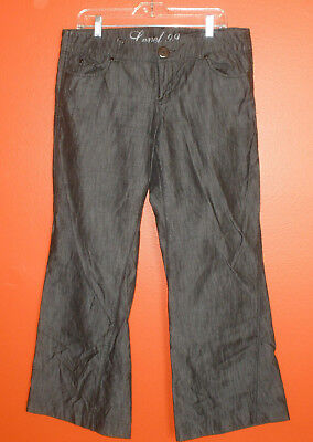 (Level 99 gray mid rise, wide leg jeans. Size 32)