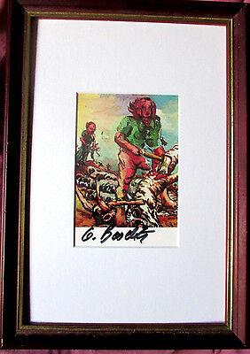 BASELITZ  Portrait E.S.  HAND-SIGNIERT, Multiple, mit Rahmen, orig.signe