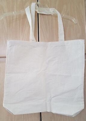 Natural Canvas Tote Bags Craft - Set of 5 Natural Cotton Canvas Tote Bags Blank Art Craft Supply gusset 16 x 15