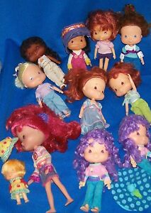 HUGE-HUGE-LOT-OF-STRAWBERRY-SHORTCAKE-DOLLS-HORSES-BERRY-HOUSE