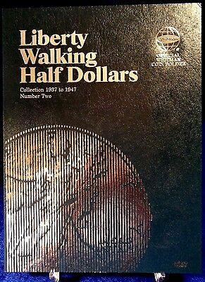Whitman Liberty Walking Half Dollars #2 1937-1947 Coin Folder, Album book # 9027