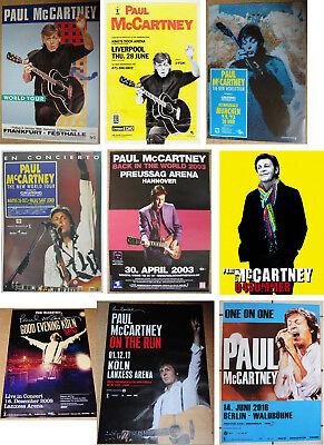 47x originale Paul McCartney Konzert Tour Poster Plakate, Beatles