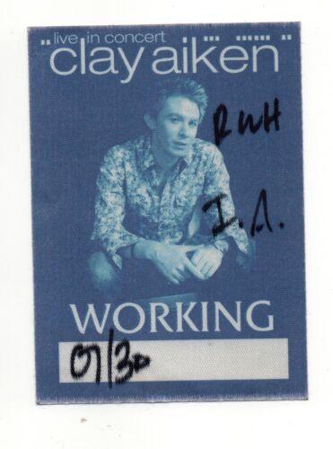 Clay Aiken Live In Concert Satin Working Crew Backstage Pass