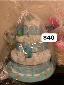 DIAPER CAKES & BABY GIFT BASKETS