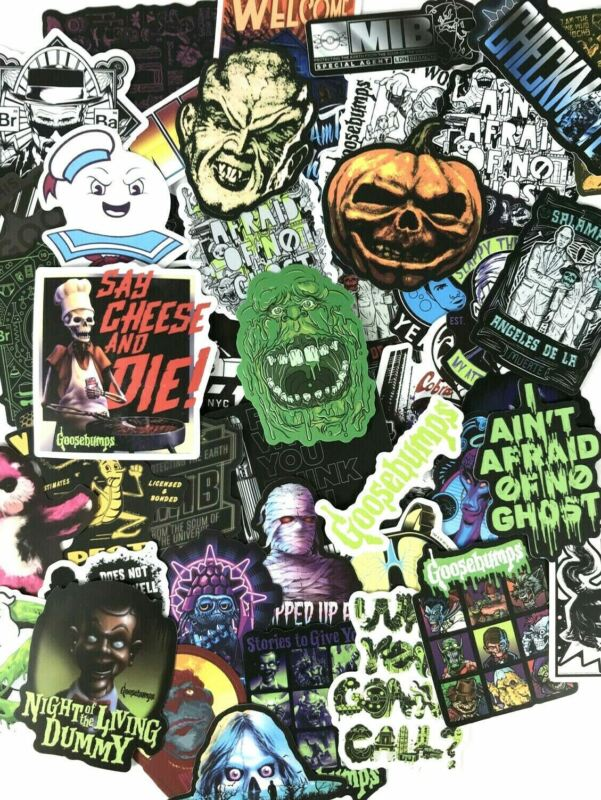 50pc Goosebumps, MIB & Ghostbusters Scary Halloween Movie Decal Sticer Pack