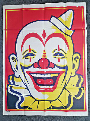 MASSIVE Original Vintage Circus Clown Poster 55