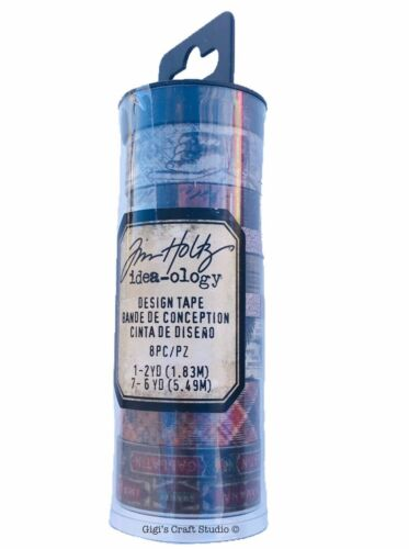 Tim Holtz idea-ology DESIGN TAPE - FRENCH - TH93355 - 8pc