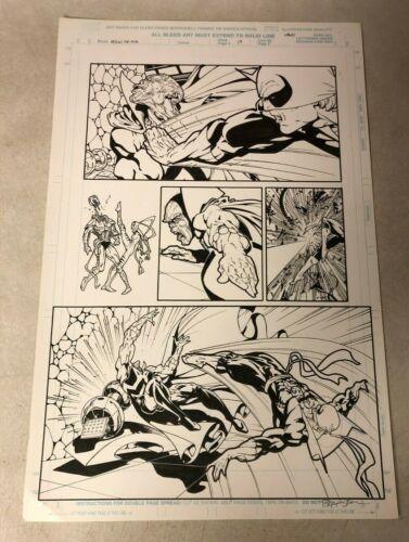 IRON FIST original art DEMONICUS Heroes for Hire SEARS WHITE TIGER decapitates