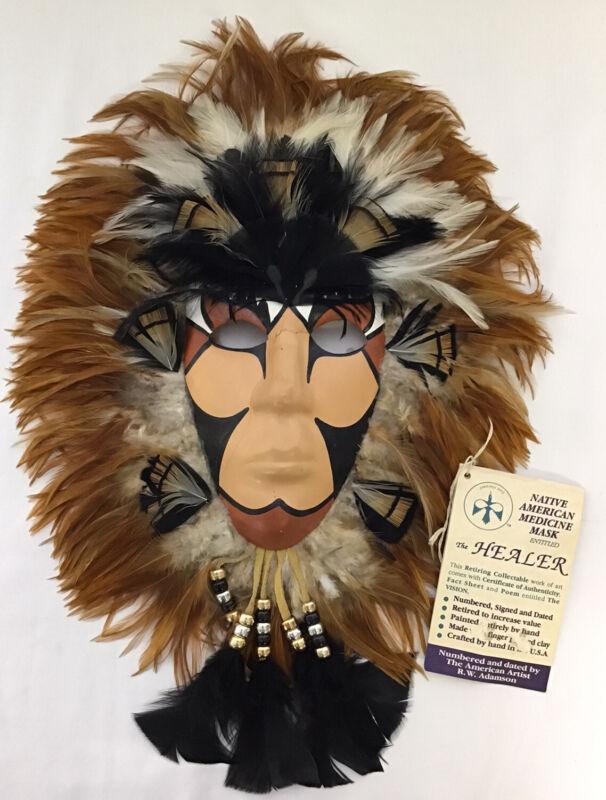 Native American Medicine Mask The Healer RW Adamson w/tag