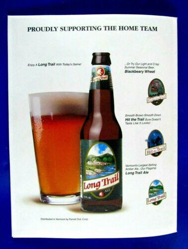 "Long Trail Beer Original  Regional 2003 Print Ad 8.5 x 11"""