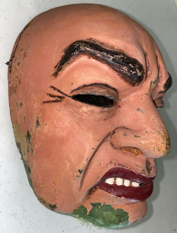 Edward G Robinson Vintage 1940s Movie Star Paper Mache Mask by Violet Clark Eddy