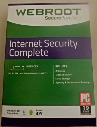 Webroot Internet Security Complete 2021 | 3 YRS | 5 PC/MAC/MOBILE | KEY EMAILED